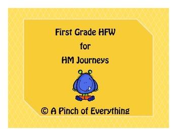 Journeys HFW List First Grade
