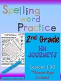 Journeys HM Spelling Word Practice lessons 1-30