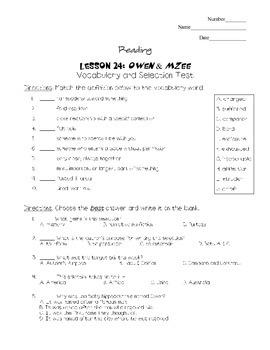 Journeys - HMH © 2011/2012 Grade 4 Lesson 24 Vocabulary/Se