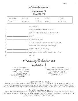 Journeys - HMH © 2011/2012 Grade 4 Unit 2 Study Sheets