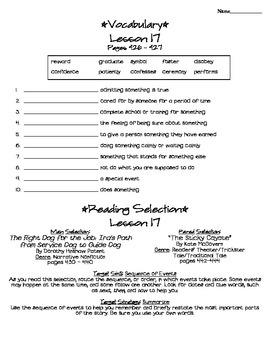 Journeys - HMH © 2011/2012 Grade 4 Unit 4 Study Sheets