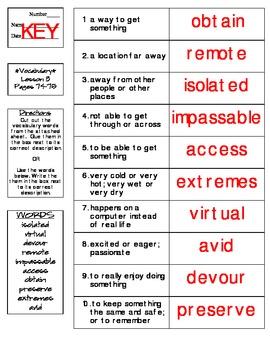 Journeys - HMH © 2014 Grade 4 Lesson 03 Vocabulary Practice