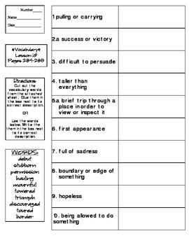 Journeys - HMH © 2014 Grade 4 Lesson 10 Vocabulary Practice