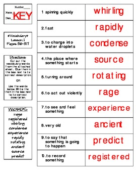 Journeys - HMH © 2014 Grade 4 Lesson 11 Vocabulary Practice