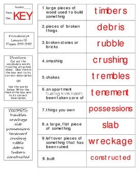 Journeys - HMH © 2014 Grade 4 Lesson 12 Vocabulary Practice