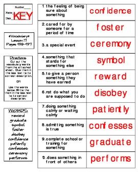 Journeys - HMH © 2014 Grade 4 Lesson 17 Vocabulary Practice