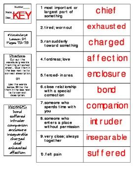 Journeys - HMH © 2014 Grade 4 Lesson 24 Vocabulary Practice