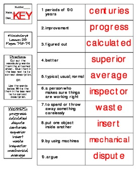 Journeys - HMH © 2014 Grade 4 Lesson 25 Vocabulary Practice