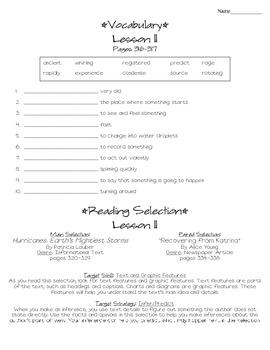 Journeys - HMH © 2014 Grade 4 Lessons 1-30 Study Sheets