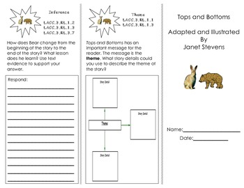 Journeys HMH Common Core Unit 3 Trifolds/ 3rd grade all stories