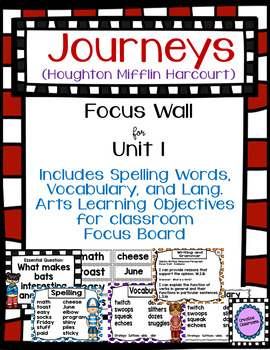 Journeys Third Grade Focus Wall for Unit 1