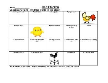 Journeys Half Chicken Vocabulary Hunt