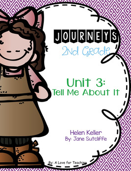 Journeys Helen Keller Grade 2 {Editable}