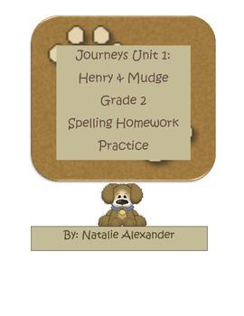 Journeys Henry & Mudge Spelling Practice