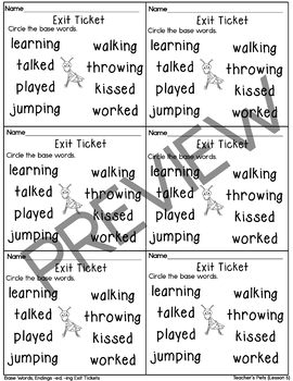 Journeys- Henry and Mudge Exit Tickets