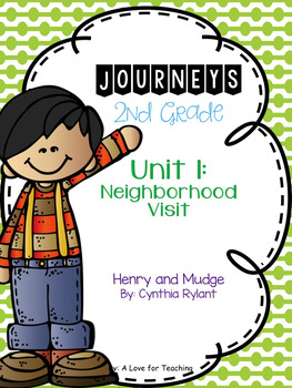 Journeys Henry and Mudge Grade 2 {Editable}