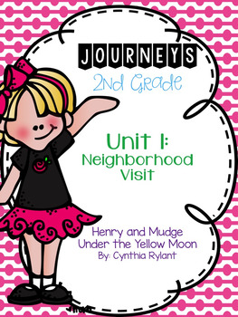 Journeys Henry and Mudge Under the Yellow Moon Grade 2 {Editable}