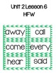 Journeys High Frequency Word Activities Unit 2 Lessons 6-1