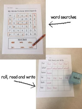 Journeys 1st Grade High Frequency Word Practice Mega Pack - Unit 2
