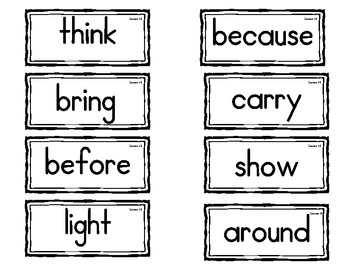 Journeys High Frequency Word (Sight Word) Wall Cards First Grade