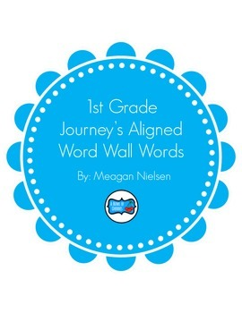 Journey's High Frequency Word Wall Words-Chevron