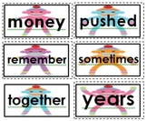 Journeys High Frequency Word Wall Words Sock Monkey Theme