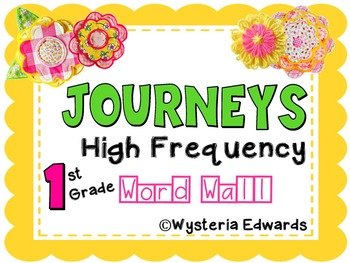 Journeys High Frequency Words: First Grade