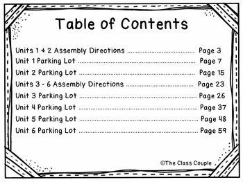 Journeys First Grade High Frequency Word Parking Lot BUNDLE! (Units 1-6)