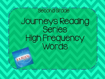 Journeys High Frequency Words- Second Grade