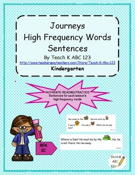 Journeys High Frequency Words Sentences