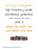 Journeys High Frequency Words Sentences -- Unit 3