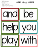 Journeys High Frequency Words for Word Wall