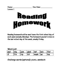 Journeys Spelling Homework Lesson 1