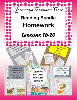 Journeys Homework Bundle Lessons 16-20 Book Level 1.4