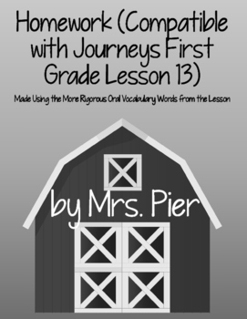 Homework (Compatible with Journeys First Grade Lesson 13 Seasons)
