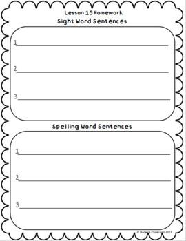 Journeys Homework Unit 3 Bundle- First Grade
