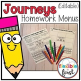 Homework Menus  (Editable)
