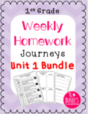 Journeys Homework Unit 1 Bundle- First Grade