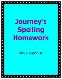 Journeys Homework Unit 4 Lesson 18