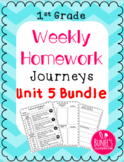 Journeys Homework Unit 5 Bundle- First Grade
