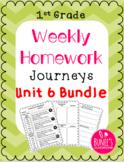 Journeys Homework Unit 6 Bundle- First Grade