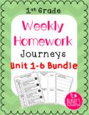 Journeys Homework Units 1-6 Bundle- First Grade (6 Pack)