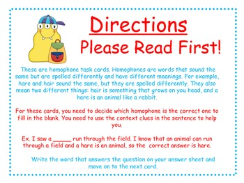 Homophones Task Cards for Journeys Grade 2