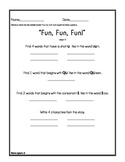 Journeys - Houghton Mifflin - Decodable Reader Activities - Lessons 1 -5