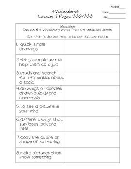 Journeys - HMH © 2011/2012 Grade 3 Lesson 07 Vocabulary Practice