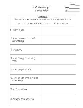 Journeys - HMH © 2011/2012 Grade 3 Lesson 13 Vocabulary Practice
