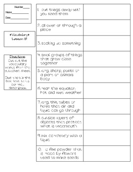 Journeys - HMH © 2011/2012 Grade 3 Lesson 18 Vocabulary Practice