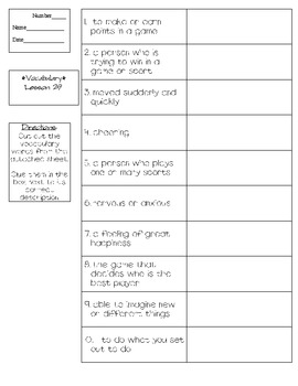 Journeys - HMH © 2011/2012 Grade 3 Lesson 29 Vocabulary Practice