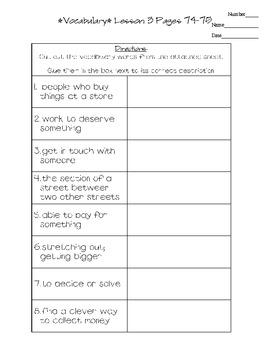 Journeys - HMH © 2011/2012 Grade 3 Lesson 03 Vocabulary Practice