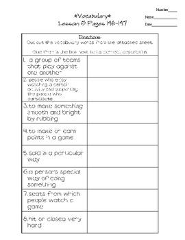 Journeys - HMH © 2011/2012 Grade 3 Lesson 05 Vocabulary Practice